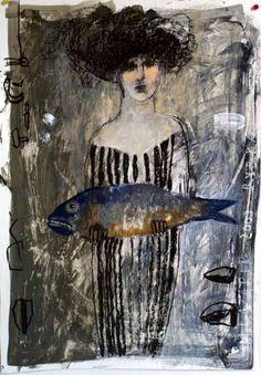 Title unknown by Polish artist Małgorzata Lazarek (b.1960). via art odyssey