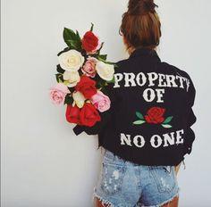 2016 autumn hiphop harajuku punk rok fashion vintage property of rose no one embroidery jacket High Heels Suicide rose tops Fashion Week, Look Fashion, Womens Fashion, Fashion Photo, Mode Style, Style Me, Estilo Grunge, Punk, Boho