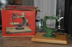 Vintage 1950s Grain Child's Sewing Machine & original box - made in Nottingham in Collectables, Sewing/ Fabric/ Textiles, Sewing Machines | eBay