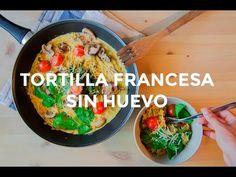 Omelette de champiñones y espinacas (sin huevo) | Recetas veganas