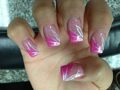 So sweet! The Effective Pictures We Offer You About french nails A quality picture can tell you many things. French Nail Designs, Pink Nail Designs, Nail Designs Spring, Acrylic Nail Designs, Nails Design, Nail Manicure, Manicures, Nail Polish, Gel Nail