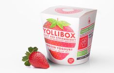 Yollibox - half way between a box and a traditional pint (chinese take out box resemblance)