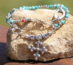 Handmade Turquoise Southwest Style Artisan by redlimedesign, $195.00