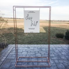 Double Bar Copper Stand //Wedding Welcome Stand//Wedding Sign Stand// Welcome sign Stand //Seating Chart Stand Wedding Signs, Our Wedding, Copper Wedding Decor, Wedding Welcome, Seating Charts, Love At First Sight, Making Out, Special Events, Wedding Events
