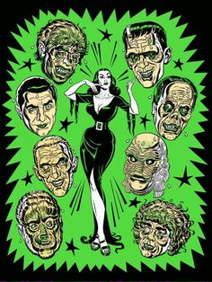 Mitch O'Connell's Vampira & the Monsters