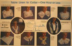 Elizabeth Anne Collars Patterns, Vintage Sewing Patterns, Collars Paper Pattern, 1980s Fashion, UNCUT