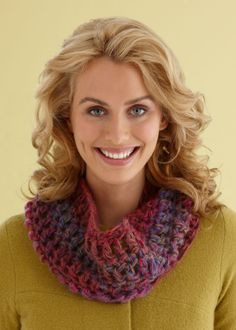 45 Minute Cowl-takes only one skein of yarn--free pattern.  There's time enough to make one of these for every  gal pal, sister, mom and daughter on your list! (This is a Crochet pattern, but using a size 19 knitting needle you can find a simple pattern and do the same thing... Cast on 38 work in the round)and you can make it a hoodie if you go longer and wider