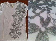 DIY #shirt @Jessica Waesch Not this design but the same idea on a tank top for the warrior dash. We can choose our own design stencil, spray paint or whatever paint from Hobby Lobby, leave the guys with a babysitter, and go off and do this one evening!