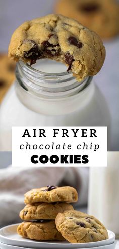 Homemade Chocolate Chip Cookies, Chocolate Desserts, Small Batch Cookie Recipe, Cookie Recipes, Dessert Recipes, Air Fryer Recipes, Easy Desserts, Treats, Oven