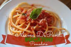 our life in a click: {Recipe}Mama DePandi's Bucatini Pomodoro
