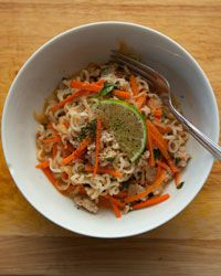 Thai Curried Noodles with Pork and Basil Recipe from Food & Wine