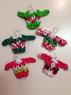 Ugly Christmas Sweaters #loombands #loom #fun