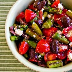 Kalyn's Kitchen®: Salad with Asparagus, Cherry Tomatoes, Kalamata Ol...