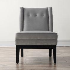 Alexander Grey Velvet Chair   Overstock.com Shopping - Great Deals on Chairs
