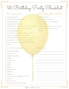 The Ultimate 1st Birthday Party Planning Guide - Taylor-made Mama