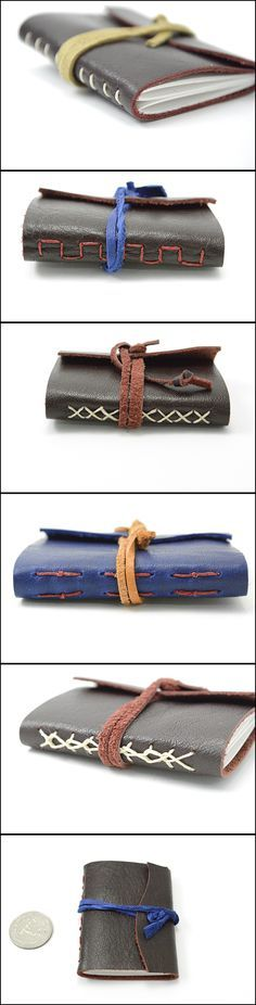 Miniature leather journals!