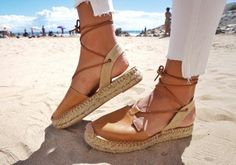 Cristina Espadrille Camel Sandal by artisans in Spain. Handcrafted Soft leather upper Recycled rubber sole. Sustainable sandal for summer and other seasons.