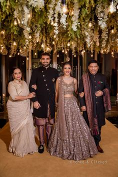 Beautiful Delhi Wedding With Bride In Vibrant Outfits Indian Wedding Gowns, Party Wear Indian Dresses, Indian Gowns Dresses, Indian Bridal Outfits, Indian Bridal Fashion, Indian Fashion Dresses, Indian Designer Outfits, Engagement Dress For Bride, Couple Wedding Dress