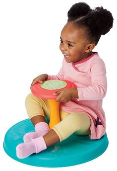Need a birthday gift for a busy 2 year old?  Playskool Sit N Spin at Toys R Us.