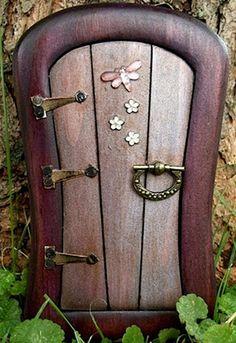Purple Dragonfly Fairy Door