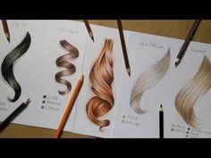 Como desenhar cabelo e quais cores utilizar ( 6 Tipos) - YouTube