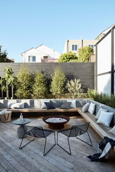 How We Designed Our Dream Yard - Apartment34 Backyard Seating, Backyard Patio Designs, Small Backyard Landscaping, Garden Seating, Backyard Ideas, Backyard Pools, Balcony Ideas, Small Backyard Design, Garden Decking Ideas