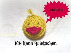 quietschende Ente Quietscheente von Häkelapplikationen auf DaWanda.com