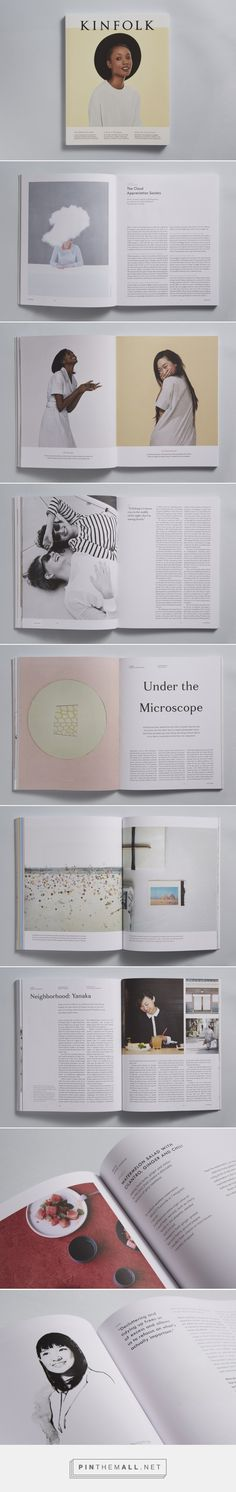 Kinfolk Issue The Essentials Issue by Charlotte Heal Magazine Layout Design, Book Design Layout, Graphic Design Layouts, Print Layout, Web Design, Page Design, Cover Design, Print Design, Magazine Layouts