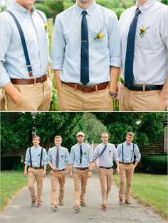 relaxed groomsman outfits from the Gap with boat shoes #blue #beachwedding http://www.weddingchicks.com/2013/12/10/cape-cod-beach-wedding/