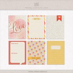 journaling cards | Wink Journal Cards by Digital Design Essentials