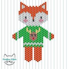 Noël se rapproche, yeah!!!! Voilà les diagrammes du koala et du renard... Merci @lesptitsbonheursdesoph qui a fait un mix des deux superbe! #jenfiledesperlesetjassume #miyuki #diagrammeperles #beadpattern #koalabear #koala #fox #renard #uglysweater #brickstitch #noel #christmas #motifpauline_eline