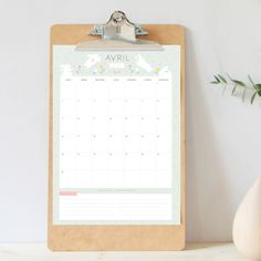 Le calendrier DIY AVRIL 2018 Carte Vitale, Calendrier Diy, Avril, Bujo, Bullet Journal, Monthly Calendars, Organization