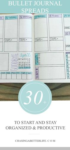 30+ Bullet Journal Spreads That'll Start Your New Year Organized and Keep You Organized #bujo #buletjournal #organized