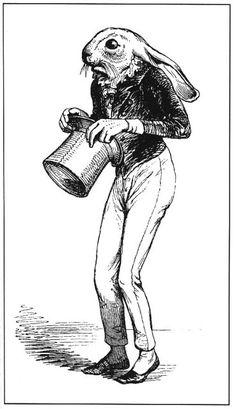 Hare from Scenes de la Vie Privée et Publique des Animaux. Illustrated by J. J.Grandville, 1803-1847. Fantastic Ornaments, (Paris: L'Aventu...