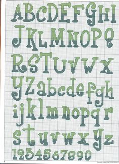 Canton of Thaii: Alphabets & Monograms Cross Stitch Alphabet Patterns, Embroidery Alphabet, Stitch Patterns, Alphabet Charts, Cross Stitch Numbers, Cross Stitch Letters, Cross Stitching, Cross Stitch Embroidery, Crochet Letters