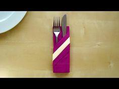 Range couvert: Pliage de serviette en papier 2 couleurs. - YouTube