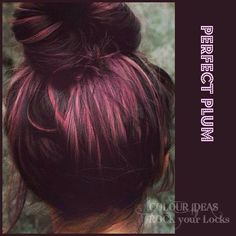 Idea hair color :) plum color <3