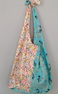 Shoulder Tote Purse Floral Bird and Cat by designsbyfancyrose