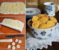 Sajtos csiga Cheese, Breakfast, Ethnic Recipes, Food, Morning Coffee, Meal, Essen, Hoods, Meals