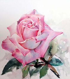 Мобильный LiveInternet Розы... Художник - акварелист La Fe | Трииночка - Дневник Три И ночка |