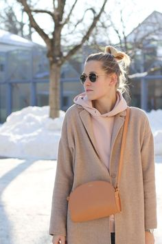 tifmys – Hoodie: H&M | Coat: Zara | Jeans: Cheap Monday | Sunnies: Ray Ban Round Metal | Bag: A.P.C. Half-moon bag | Shoes: Bronx Bow sneakers