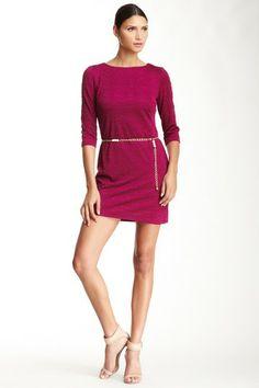 Sandra Darren Patterned Elbow Sleeves Dress by Non Specific on @HauteLook