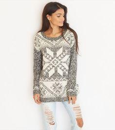 Snowflake Jacquard Sweater   Garage Clothing