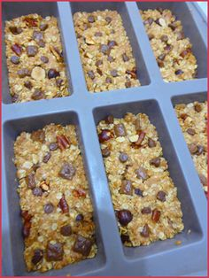 Home made cereal bars vegan - Brunch Brunch Recipes, Gourmet Recipes, Vegan Recipes, Dessert Recipes, Breakfast Recipes, Vegan Thermomix, Bolos Low Carb, Homemade Cereal, Healthy Cereal