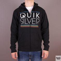 Czarna bluza męska rozpinana z kapturem Quiksilver Hood Zip Good H4 Black - kolekcja Fall/Winter 2014 / www.brandsplanet.pl /