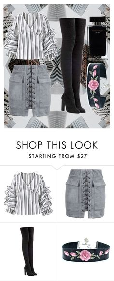 """""""city gal look"""" by puterizairin ❤ liked on Polyvore featuring Caroline Constas, WithChic, adidas Originals and Narciso Rodriguez"""