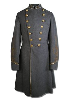 Frock coat belonging to Henry Kyd Douglas who reached the rank of Colonel.  He was a Staff Officer of General T. J. Jackson and served through the War. Note:  this coat shows the rank of Major designated by one star on the collar and three laces on the sleeve.  From Antietam National Battlefield's site.