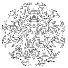 The sneak peek for the next Gift of The Day tomorrow. Do you like this one? #buddha ••••••••••• Don't forget to check it out tomorrow and show us your creative ideas, color with Color Therapy: http://www.apple.co/1Mgt7E5 ••••••••••• #HappyColoring #GiftofTheDay #GOTD #ColorTherapyApp #coloring #adultcoloringbook