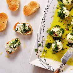 Marinated Goats Cheese Balls #recipe via Ambs Loves Food https://www.yummly.com/recipe/MARINATED-GOATS-CHEESE-BALLS-1441888
