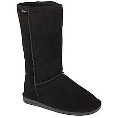 Bearpaw Women's Tall Faux Shearling Fashion Boot Emma - Black